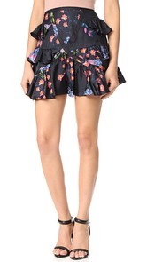 Cynthia Rowley Multi Ruffle Skirt