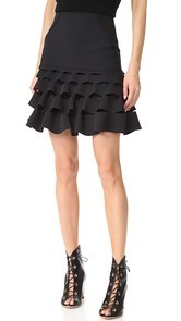 Dion Lee Slash Ruffle Miniskirt