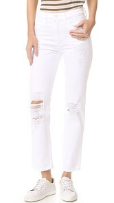 Denim x Alexander Wang Cult Cropped Straight Jeans