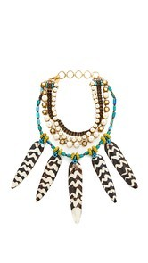 Erickson Beamon Imitation Pearl Safari Necklace