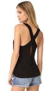 Enza Costa Twist Back Tank
