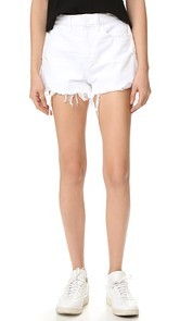 Denim x Alexander Wang Bite White Scratch Shorts
