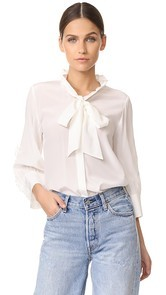 Edition10 Ruffled Silk Blouse