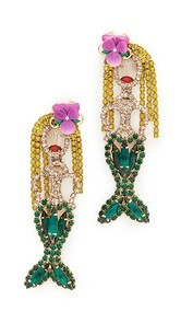 Elizabeth Cole Mermaid Earrings
