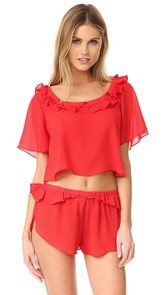 For Love & Lemons Little Rosette Sleep Shirt