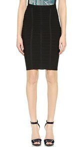 Herve Leger Sia Short Pencil Skirt