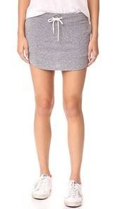 MONROW Granite Slub Baseball Skirt
