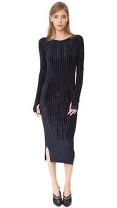 Helmut Lang Velour Dress