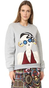 Holly Fulton Embroidered Oversized Sweatshirt