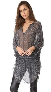 Haute Hippie Batwing Sleeve Top