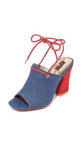 JAGGAR Pinnacle Denim Heels