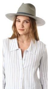 Janessa Leone Marion Short Brimmed Panama Hat