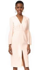 Jill Jill Stuart Deep V Bell Sleeve Dress