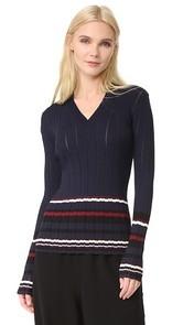 Grey Jason Wu V Neck Sweater