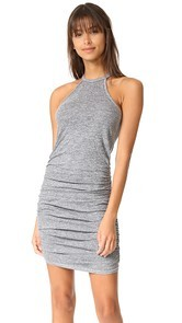 Lanston Ruched Halter Dress