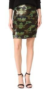 LAGENCE Phoebe Sequin Skirt