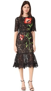 Lela Rose Embroidered Dress