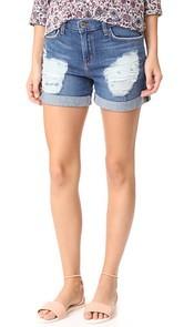 LAGENCE Balboa Double Roll Shorts