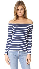 LAGENCE Cynthia Long Sleeve Off Shoulder Top
