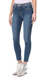LAGENCE Margot Studded Jeans