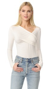 LAGENCE Karlie Faux Wrap Top