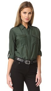 LAGENCE Alek Front Pocket Blouse