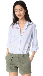Scotch & Soda/Maison Scotch Embroidered Button Down Shirt