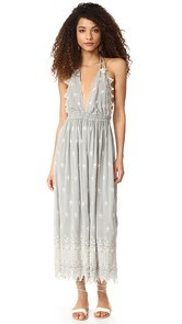 LOVESHACKFANCY Isabel Silk Dress
