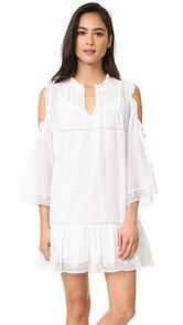 Love Sam Cold Shoulder Pintuck Dress