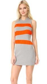 MM6 Ruffle Stripe Dress