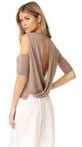Michelle Mason Open Shoulder Sweater