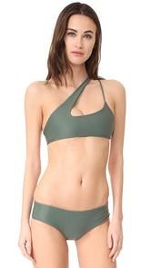 MIKOH Queensland Cross Shoulder Bikini Top