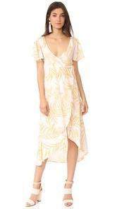 MINKPINK Paradise Waterfall Wrap Dress