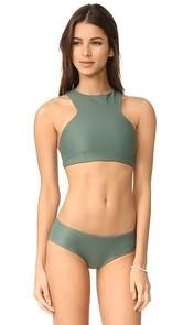 MIKOH Barbados Cutout Bikini Top