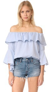 Maven West Off The Shoulder Ruffle Top