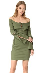Nicholas N/Nicholas Drill Lace Up Dress