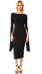 Norma Kamali Draped Low Back Dress