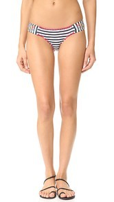 OndadeMar Ciranda Embroidered Ruched Side Low Rise Bottom