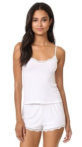 Only Hearts Feather Weight Rib Lace Trim Cami