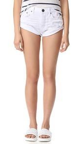 One Teaspoon White Beauty Bandit Shorts