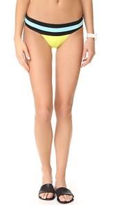 PilyQ Banded Colorblock Full Bikini Bottoms
