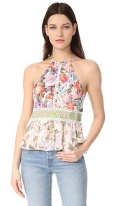 Rebecca Taylor Sleeveless Mixed Print Tank