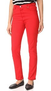 RE/DONE High Rise Red Jeans