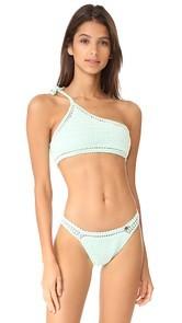 She Made Me Essentials Shoulder Tie Crop Bikini Top