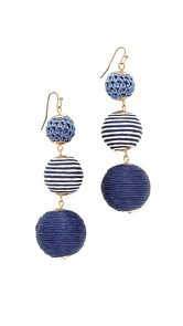 Shashi Matilda Striped Earrings