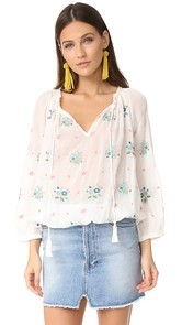 Star Mela Meili Embroidered Top