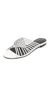 Sigerson Morrison Aggie Woven Slide Sandals