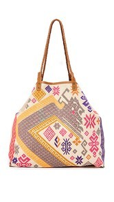 Star Mela Amba Embroidered Tote