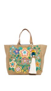 Star Mela Flori Embroidered Tote