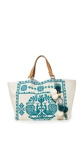 Star Mela Palma Embroidered Tote